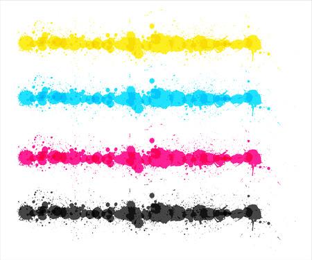 Colored Splash Strokes Vector
