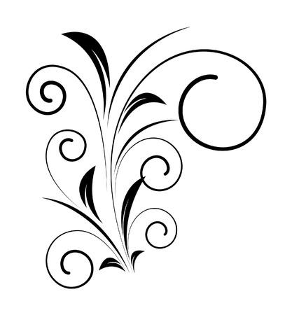 swirl: Decorative Swirl Shape Vector