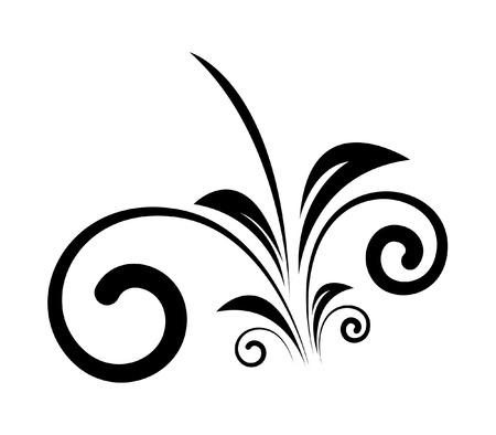 swirl: Decorative Swirl Vector Shape Illustration