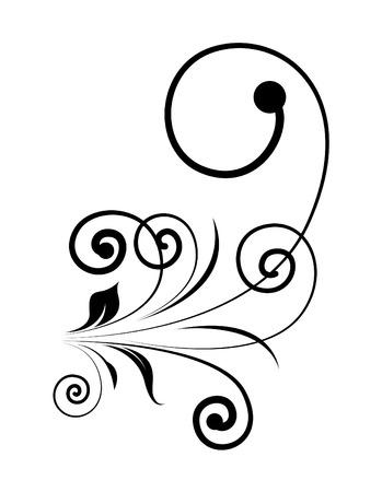 swirl: Vintage Swirl Silhouette Design