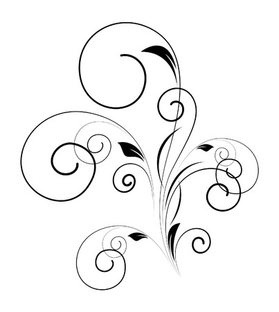 swirl: Swirl Floral Shape Design