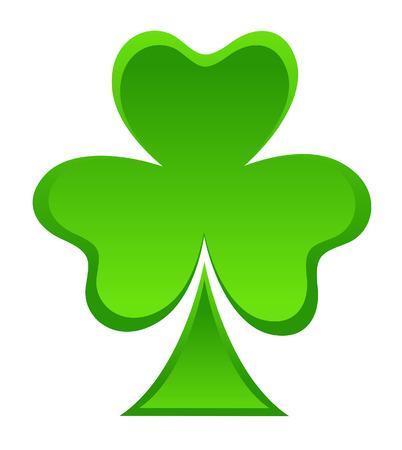 clover leaf shape: Patricks Day Shamrock Leaf