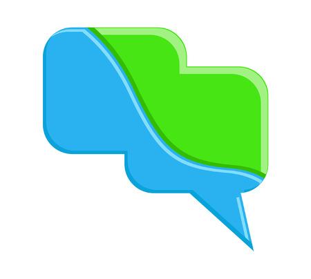 chat bubble: Colorful Chat Bubble Illustration