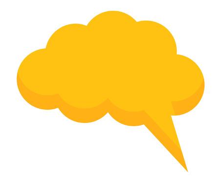 chat bubble: Cloud Chat Bubble Illustration