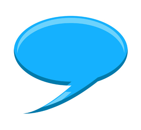 speech bubble vector: Blue Speech Bubble Vector Element Illustration