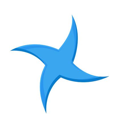 swirl: Blue Swirl Star