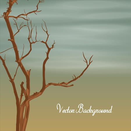 toter baum: Dead Tree Banner Vektor Illustration