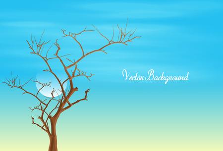 toter baum: Dead Tree Vektorzeichnung Illustration