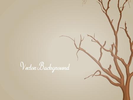 arbre mort: Dead Tree Forme Contexte Illustration
