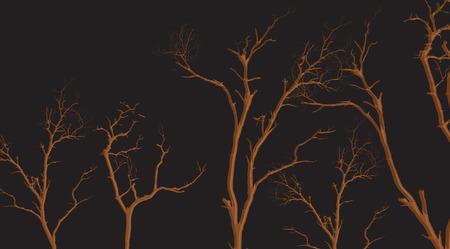 tree dead: Rami di albero Morto Shapes Vettoriali