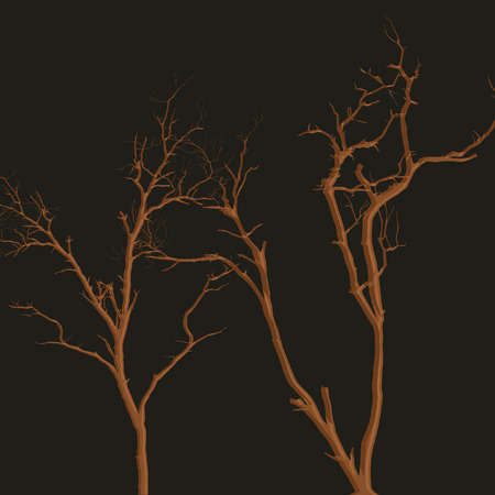 arboles secos: Horrible de Halloween �rboles muertos Vectores