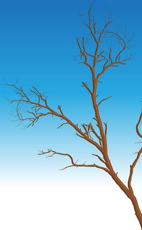 arbre mort: Dead Tree Vector Design
