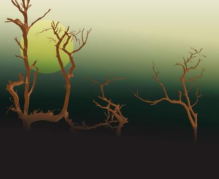 arboles secos: �rboles muertos  Vectores