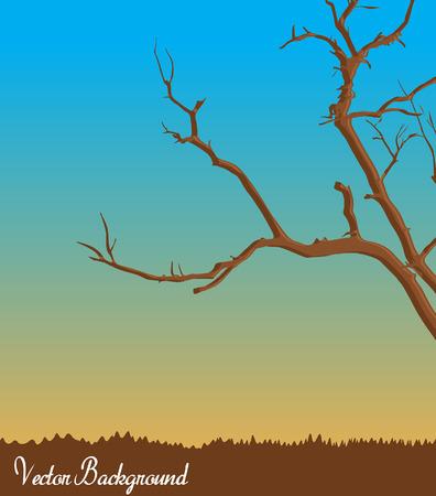 tree dead: Dead Tree Landscape Vettoriali
