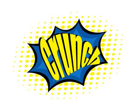 crunch: Crunch Retro Text Banner