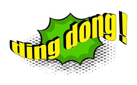 ding dong: Ding Dong Retro Text Banner