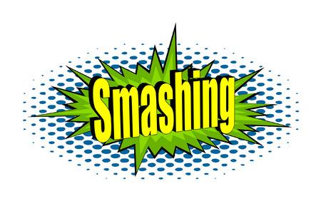 smashing: Smashing Retro Text Banner Vector