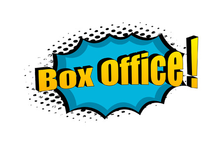 box office: Taquilla Retro Texto Banner Vector
