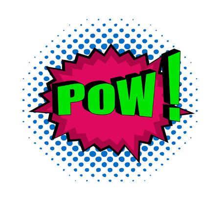 pow: Retro Pow Text Banner