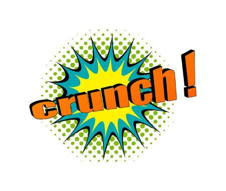 crunch: Retro Crunch Text Banner Design Illustration