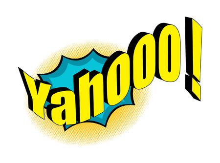 yahoo: Retro Yahoo Text Banner Design