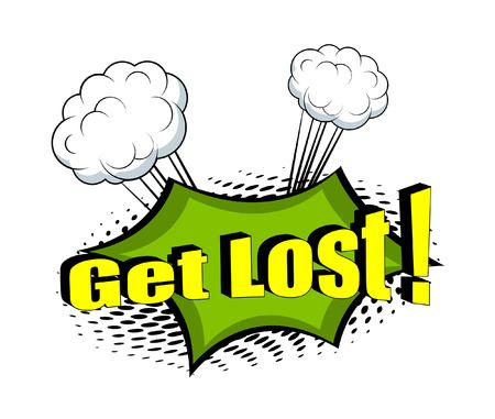 Get Lost Comic Retro Graphic Illustration