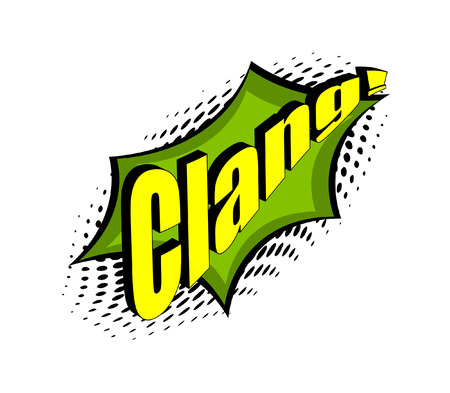 clang: Retro Clang Text Graphic Background Illustration