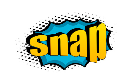 snap: Retro Snap Text Graphic Banner