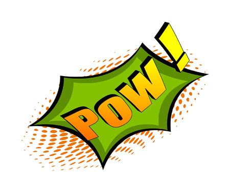 pow: Retro Pow Text Graphic Banner Illustration