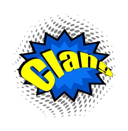 clang: Retro Comic Text