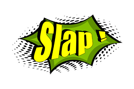 slap: Slap Retro Graphic Text Banner
