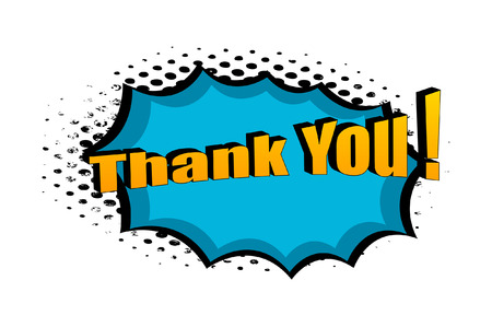 Retro Thank You Graphic Text Banner