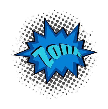zonk: Retro Comic Text Banner Background