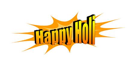 happy holi: Happy Holi Text Banner