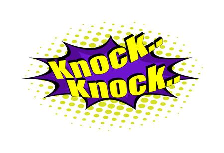 knock: Retro Knock Text Banner
