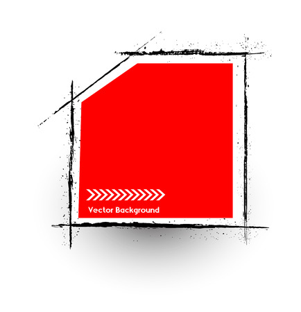 commercial painting: Grunge Frame Vector Banner
