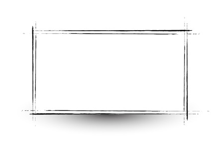 commercial painting: Retro Grunge Frame Banner