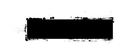 commercial painting: Black Shape Grunge Banner Illustration