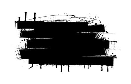 strokes: Grunge Strokes Banner Vector Illustration