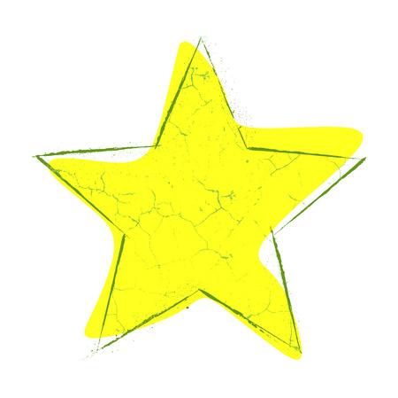 yellow star: Grunge Yellow Star Illustration