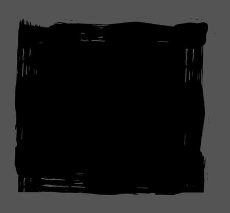 scruffy: Grunge Black Banner