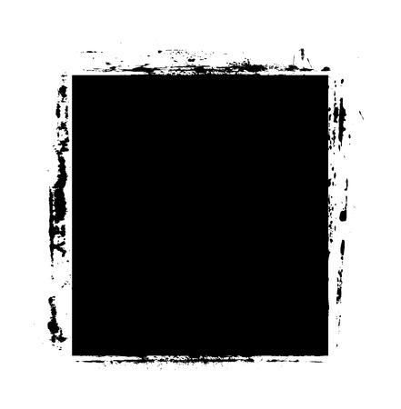 grunge banner: Black Shape Grunge Banner Illustration