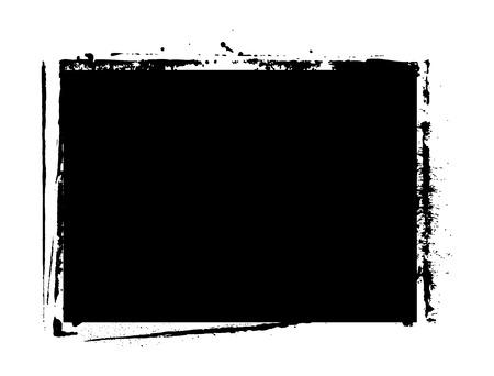 Black Shape Grunge Banner Illustration