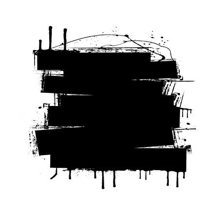 strokes: Grunge Strokes Banner Illustration