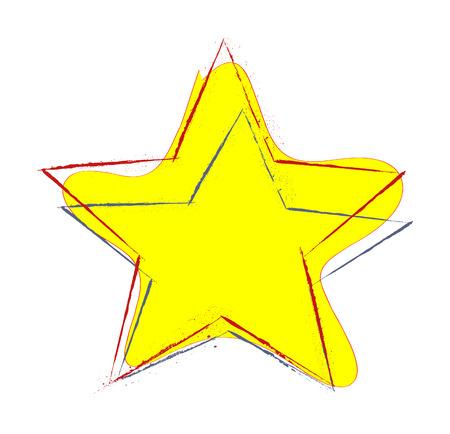 yellow star: Yellow Star Illustration
