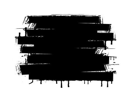Grunge Strokes Banner Illustration