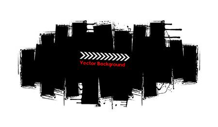 grunge banner: Grunge Strokes Banner Illustration