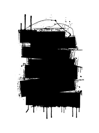 commercial painting: Grunge Strokes Banner Illustration