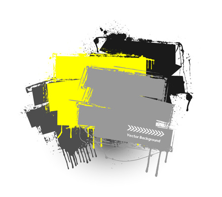 commercial painting: Colored Grunge Striped Banner Illustration