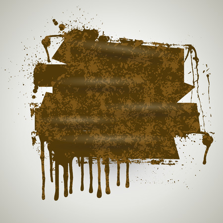 Wet Paint Grunge Banner Vector